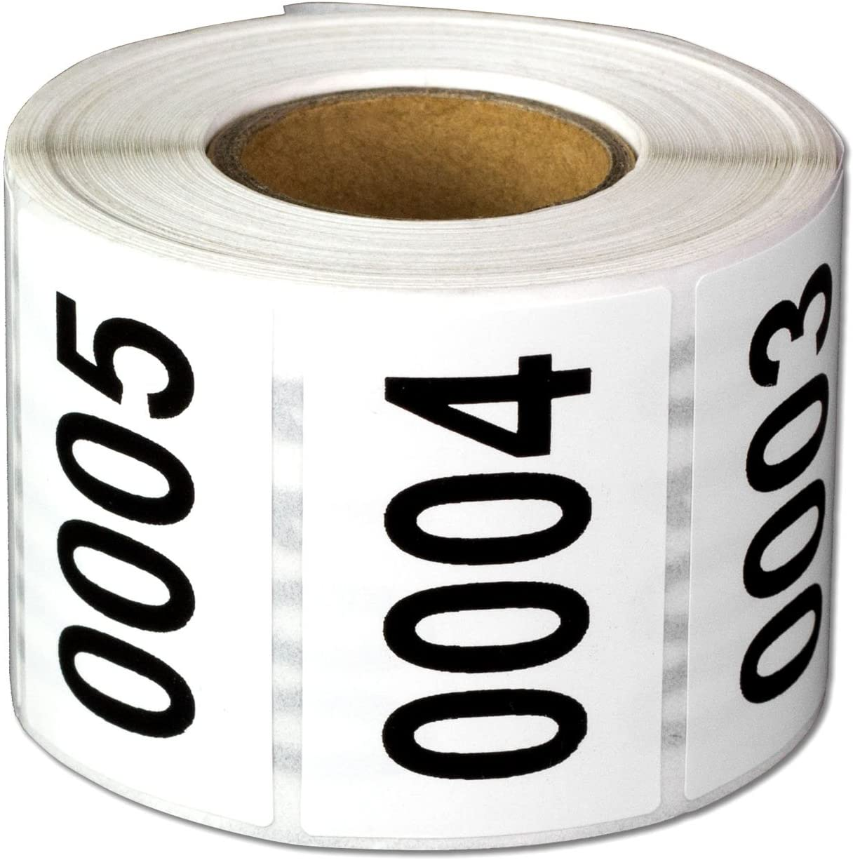 Consecutive Number Labels Self Adhesive Stickers 0001 to 0500