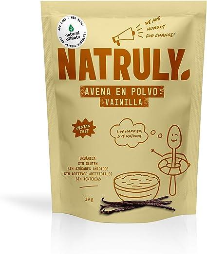 NATRULY Harina de Avena Sabor Vainilla, BIO Avena en ...