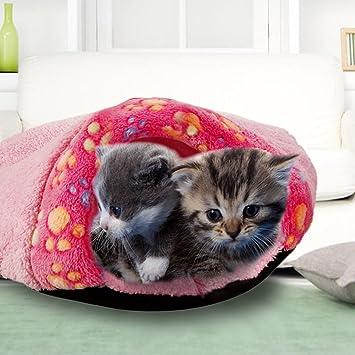 Saco de dormir para perro, túnel de Terrier, acogedor, cama para gato,