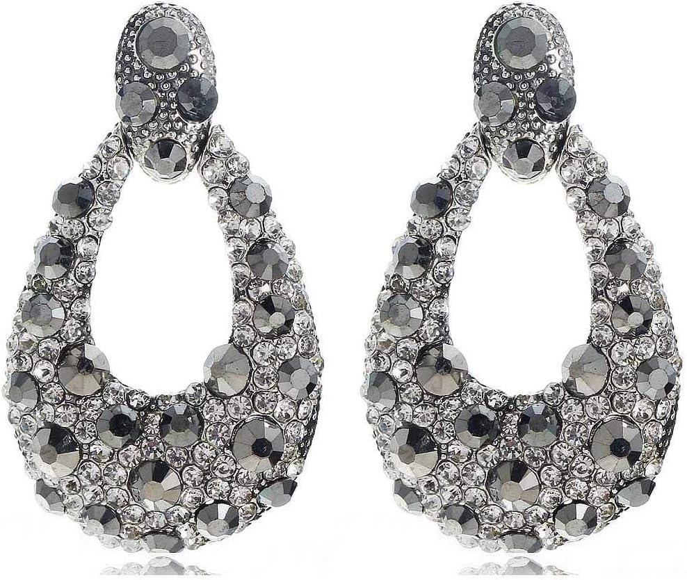 Erin Pendientes Colgantes De Diamantes De Imitación Blancos De Cristal Gris Moda Femenina Pendientes De Piedras Preciosas De Plata Antigua Modelos Femeninos E1113