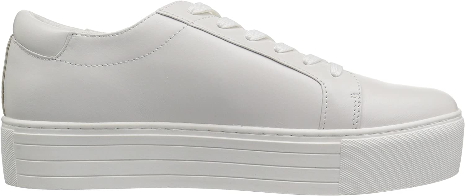 Kenneth Cole New York Women's Abbey 2 Platform LACE UP Sneaker Embroidered White