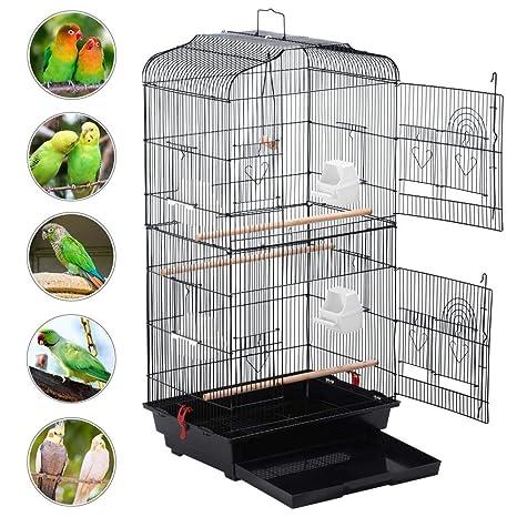 Yaheetech Jaula para Pájaros Jaula de Aves Canarios: Amazon.es ...