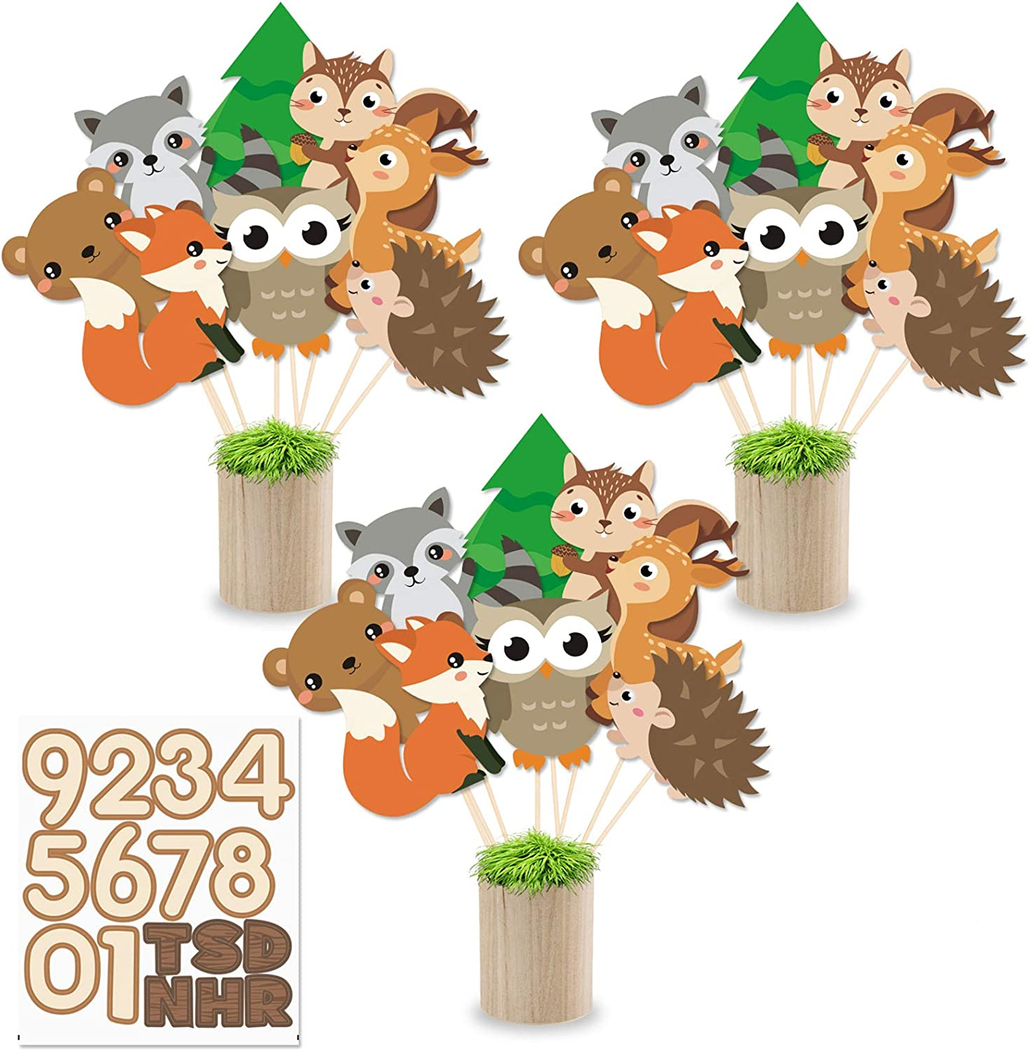 Yaaaaasss! Woodland Animals Centerpiece Sticks DIY Woodland Animals Table Decorations Woodland Creature Cutouts for Woodland Theme Baby Shower Birthday Party Supplies Set of 24