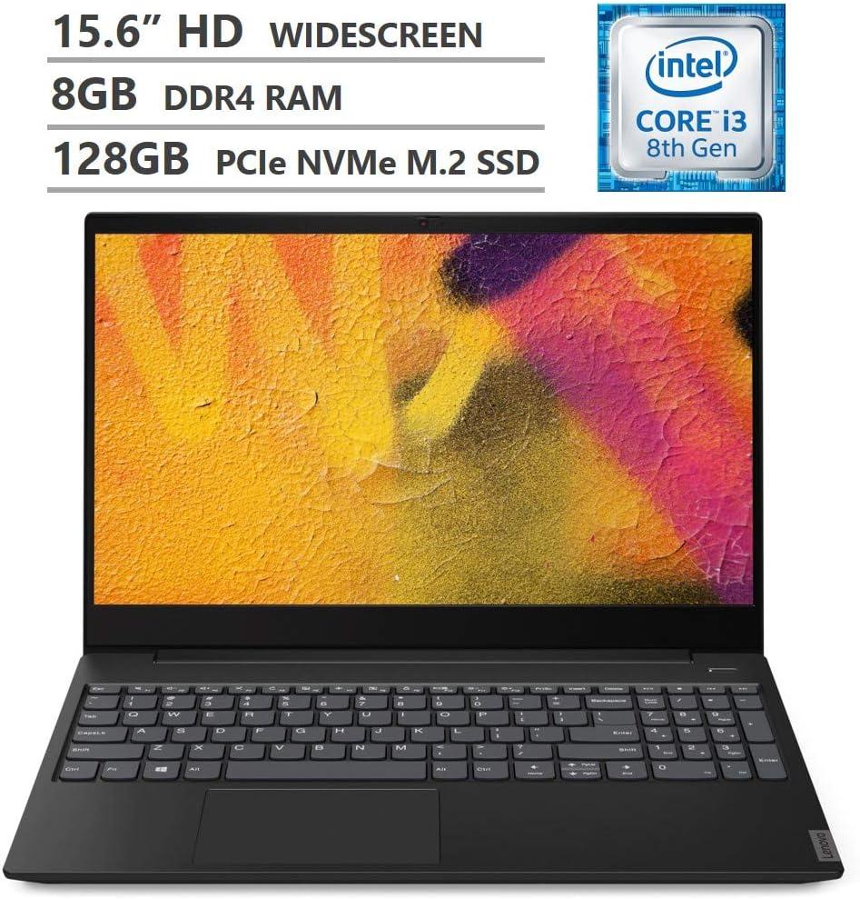 "Lenovo ideapad S340 15.6"" Laptop, Intel Core i3-8145U Dual-Core Processor, 8GB Memory, 128GB Solid State Drive, Windows 10 - Onyx Black - 81N800H3US"