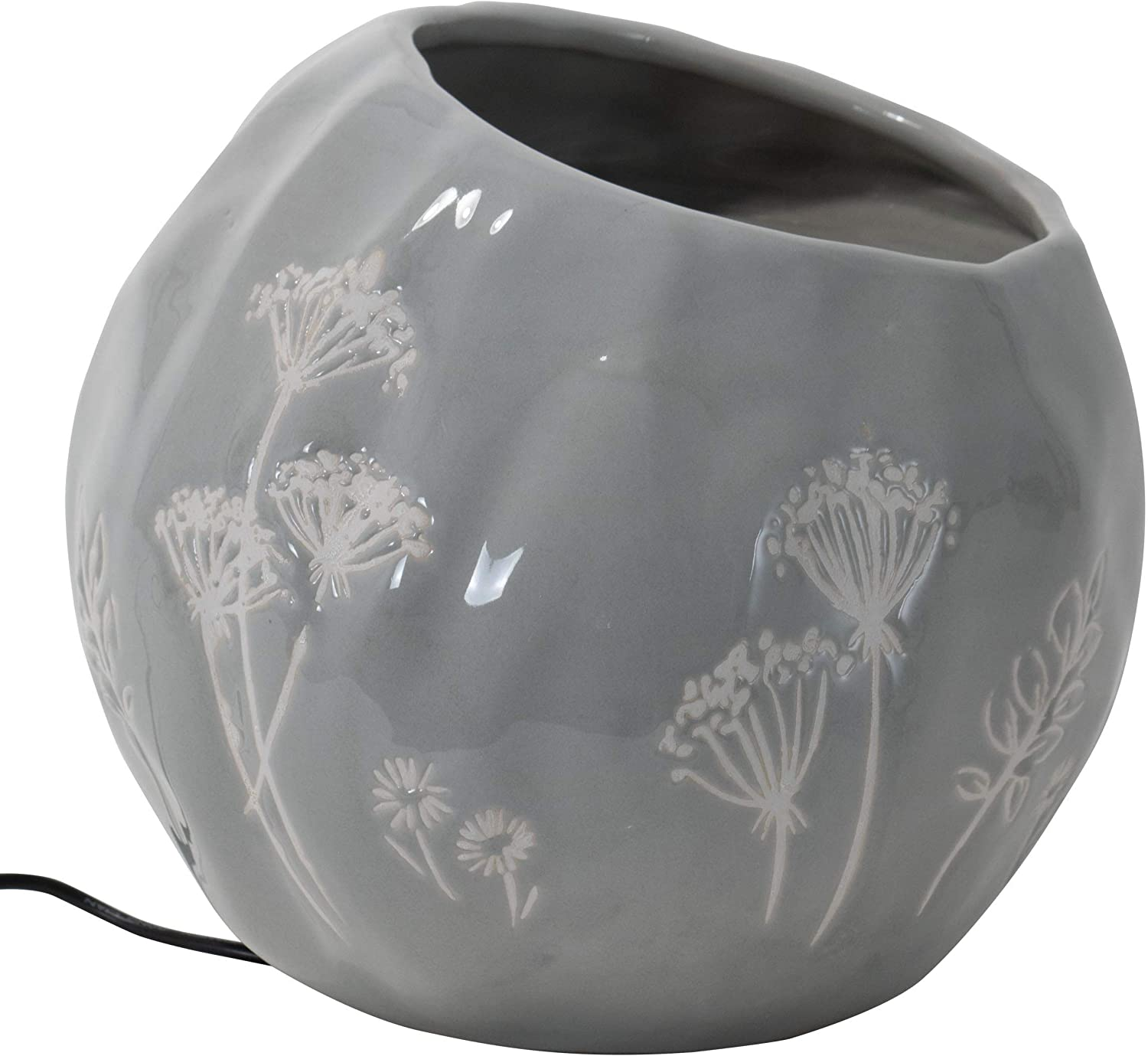 Foreside Home and Garden Multicolor Wildflower Ceramic Indoor Water Fountain with Pump
