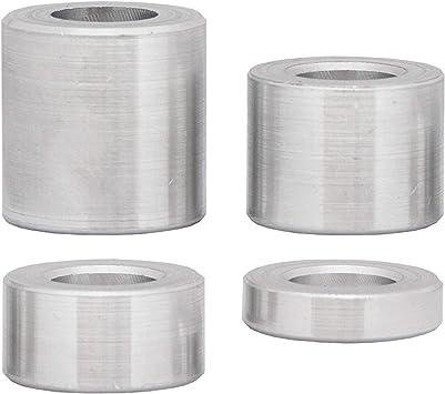 10 unidades 8 x 4,3 x 5 FASTON Casquillos distanciadores para M4 de aluminio