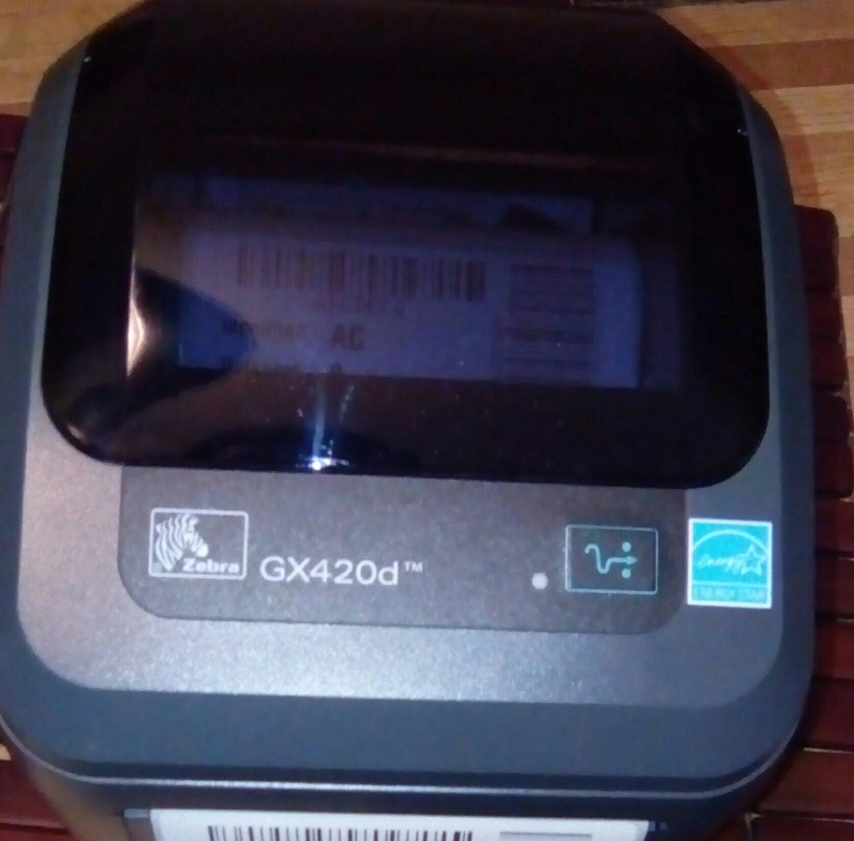 Zebra GX420d GX42-202510-000 Printer W/ New Adapter, USB, & Power Cables