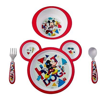 tenedor y cuchara Juego de 2/cubiertos rojos de la pel/ícula Cars de Disney
