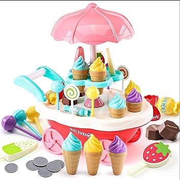 Tellabouu for Juguete Educativo del Juguete del Juguete del Carro del Caramelo del Helado de Las Luces rotatorias para los niños: Amazon.es: Hogar
