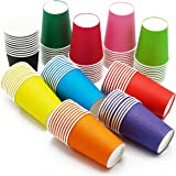 Lonyun DIY Paper Cups [50 Count(10 Color)] 7.5 oz, Multicolor Paper Cups For Weddding,Party,Picnic, BBQ, Travel, and Event