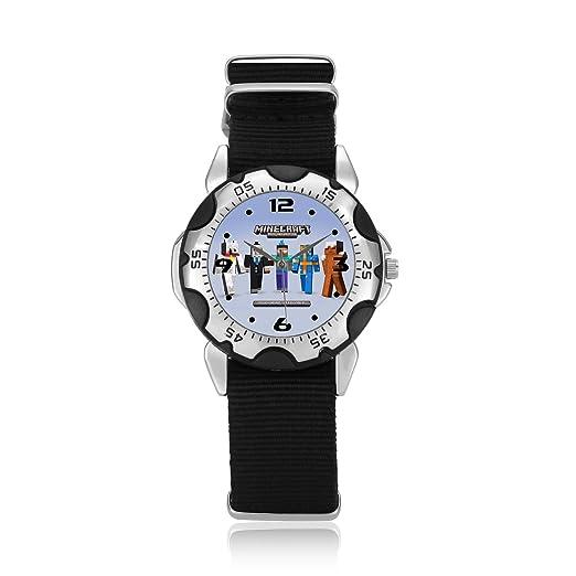 Regalos Feliz Año Nuevo muñeca reloj uysun463 Minecraft W: Amazon.es: Relojes
