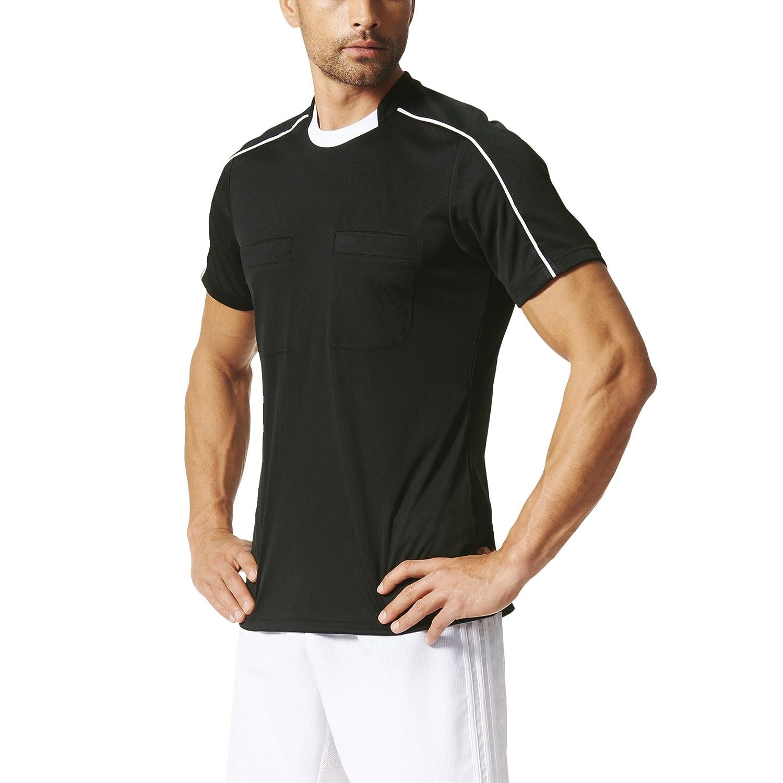 AdidasメンズClimacool Referee 16半袖ジャージー B01C4OAP7M 3L|ブラック-ホワイト ブラック-ホワイト 3L