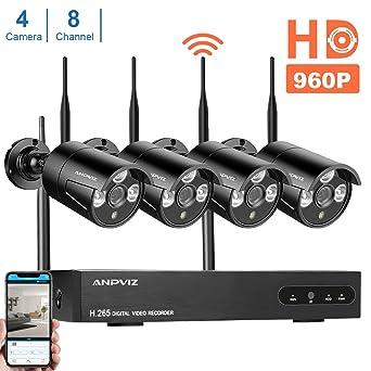 Sistema de cámara de seguridad, ANPVIZ 1080P NVR & 4pcs 960P WiFi cámara sistema de