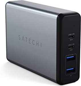Satechi 108W Pro USB-C PD Desktop Charger - 2 USB-C PD & 2 USB-A Ports - Compatible with 2019 MacBook Pro, 2018 MacBook Air, 2018 iPad Pro, iPhone 11 Pro Max/11 Pro/11 (USA)