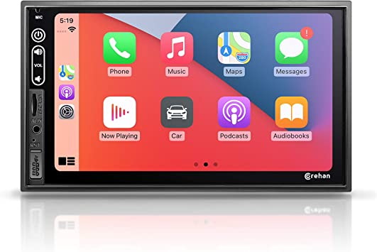 Double Din Stereo Car Audio Receiver - Corehan 7 Inch Touch Screen Car Stereo with Bluetooth Compatiable with Android Auto Car Play