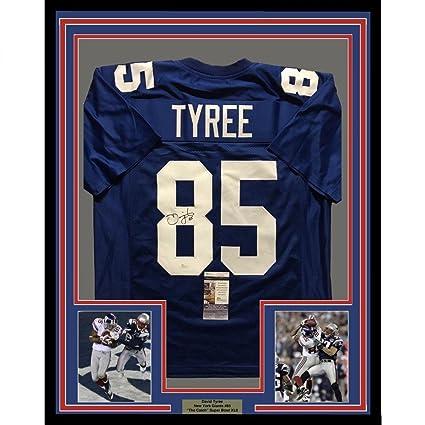 ece37ffec10 Autographed David Tyree Jersey - FRAMED 33x42 Super Bowl COA - JSA  Certified - Autographed NFL
