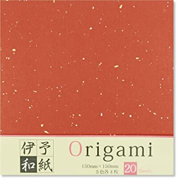 """JAPANESE 4/"""" ORIGAMI PAPER 50 MIXED ASSORTED COLORS 120 SHEETS MADE IN JAPAN"""