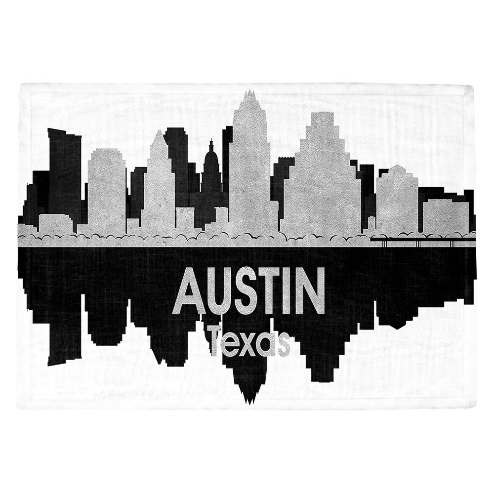 DIANOCHEキッチンPlaceマットby Artist Angelina Vick – City IV Austin Texas Set of 4 Placemats PM-AngelinaVickCityIVAustinTX2 Set of 4 Placemats  B01N3TJLT4
