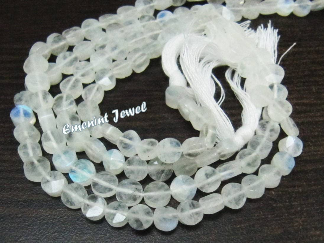 1 Strand 7 Pcs White Rainbow Moonstone Faceted Fancy Shape Briolettes Top Finest AAA Quality 100/% Natural Wholesale Price New Arrival