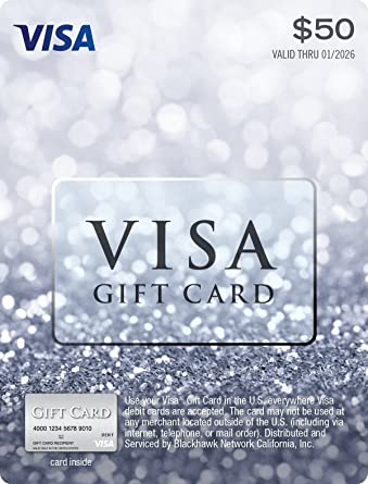 $50 Visa Gift Card (plus $4 95 Purchase Fee)