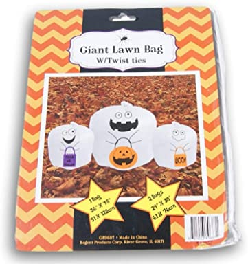 Spooky Town Ghost Giant Leaf Bags - 3 Bags in 2 Different Sizes