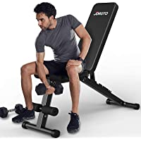 JOROTO Weight Bench Adjustable Strength Training Bench Workout for Full Body Multi-Purpose Foldable Incline Decline…
