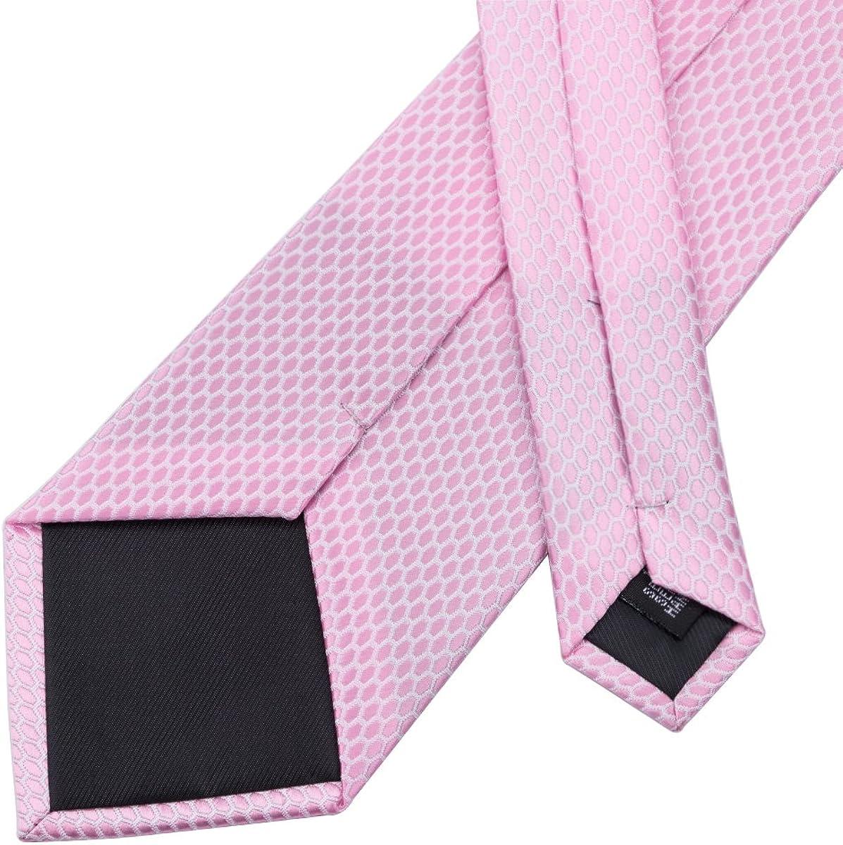 DiBanGu Ensemble cravate et boutons de manchette carr/és en soie pour homme