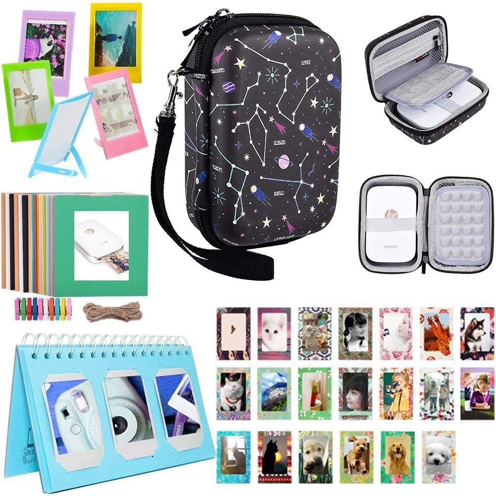 Katia Sprocket - Kit de accesorios para impresoras de fotos portá tiles HP X7N07A, Polaroid ZIP para impresoras mó viles/impresió n de redes sociales - Azul Polaroid ZIP para impresoras móviles/impresión de redes sociales - Azul SAIKA