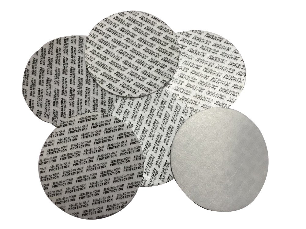 Rewarding Essentials 53 mm Pressure Sensitive PS Foam Cap Liners Tamper Seal Cap Liner Sealed for your Protection (500)