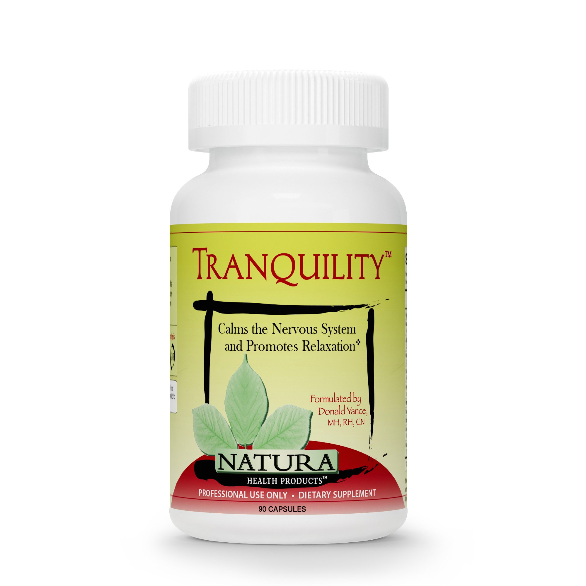Natura Health Products - Tranquility GABA Calm Mind Nervous System and Relaxation Supplement - Science Formulated Classic Tonic and Relaxant Herbal Nervines - 90 Capsules