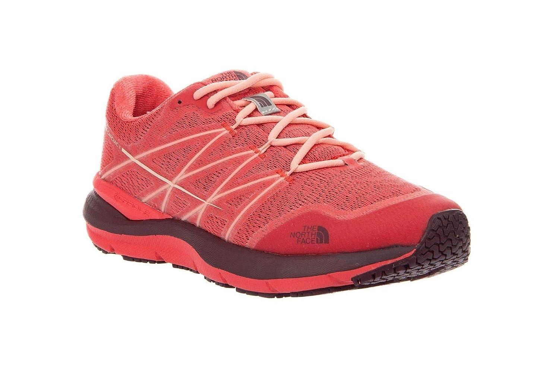 Rouge Peach THE NORTH FACE W Ultra Cardiac II, Chaussures de Randonnée Basses Femme