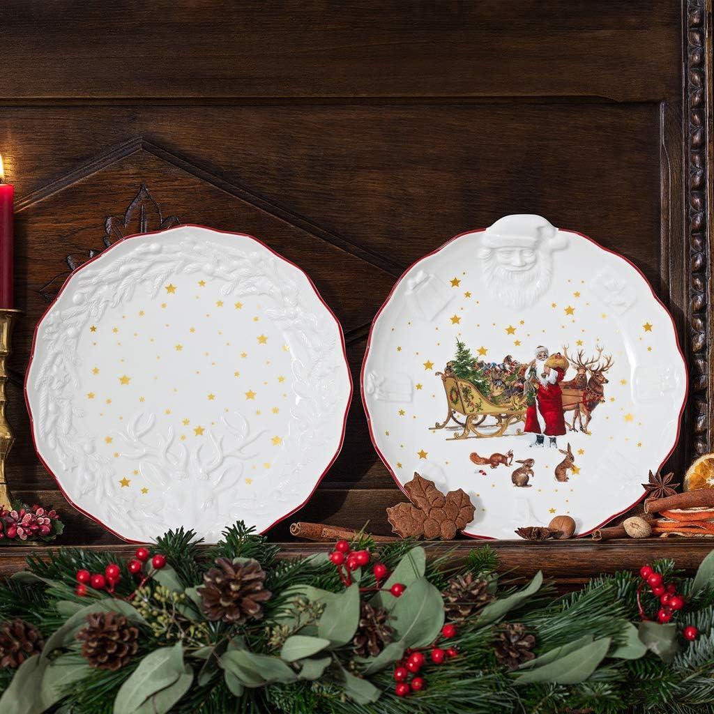 24 x 4 cm Premium Porcelain wei/ß Villeroy /& Boch Toys Fantasy Schale mit Hirsch Relief
