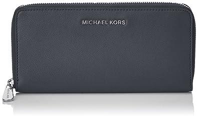3c84fccd6ed6 Michael Kors Womens Bedford Za Continental Wallet Grey (Admiral ...