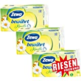 Zewa bewährt Kamille Toilettenpapier 3-lagig Riesenpackung 3 Packungen (je 16 Rollen x 150 Blatt)