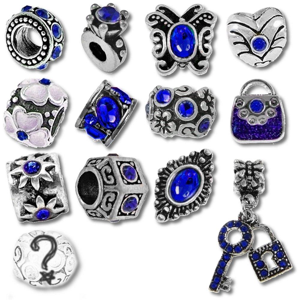 Blue Birthstone Beads and Charms for Pandora Charm Bracelets , September  Sapphire Amazon.co.uk Kitchen \u0026 Home