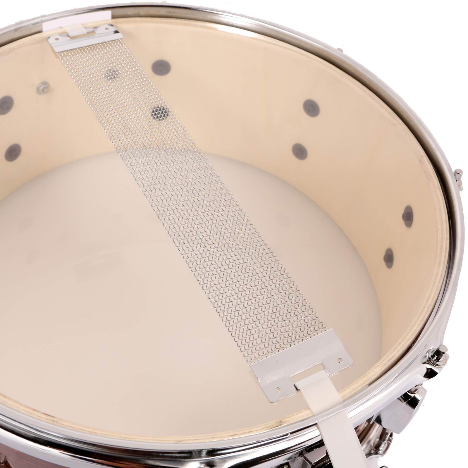 LAGRIMA Student Beginner Snare Drum W/Drum Key, Drumsticks and Strap|14x5.5 inch|Real Wood Shell|8 Metal Tuning Lugs by LAGRIMA (Image #4)