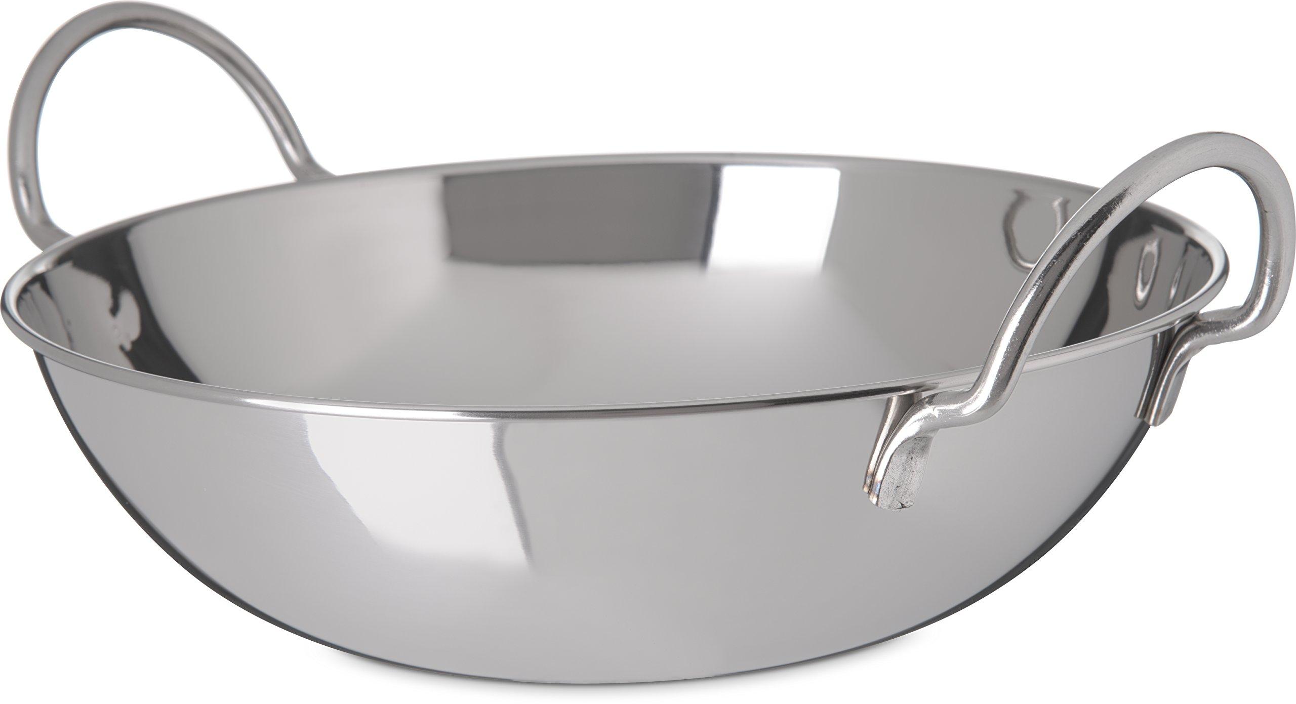 Carlisle 609097 Stainless Steel Balti Dish, 3 Quarts (Pack of 12)
