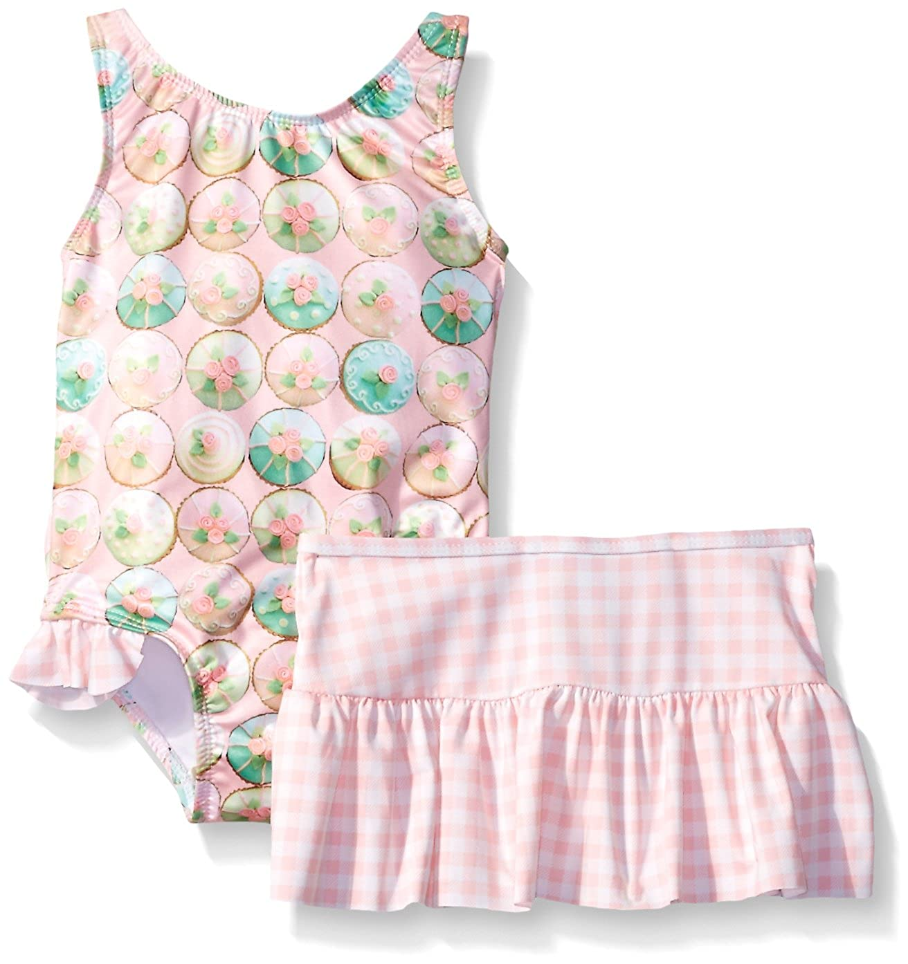 Baby Buns Girls\' Sweet Cupcakes Swimswear with Skirt w23771