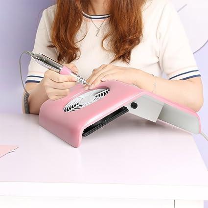Vinteky® Elegante y Práctico Aspirador Profesional de mesa para Uñas Manicura Nail Art Reconstrucción Polvo colector de succión para uñas Ideal para esteticistas y en salones de belleza (Rosa): Amazon.es: Belleza