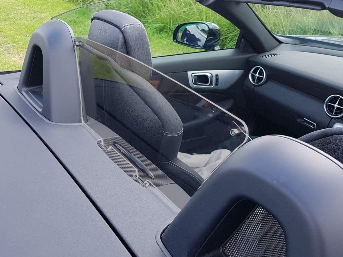 JR Mercedes Wind Deflector fits Mercedes SLK R172 2011-2017 Tinted Perspex