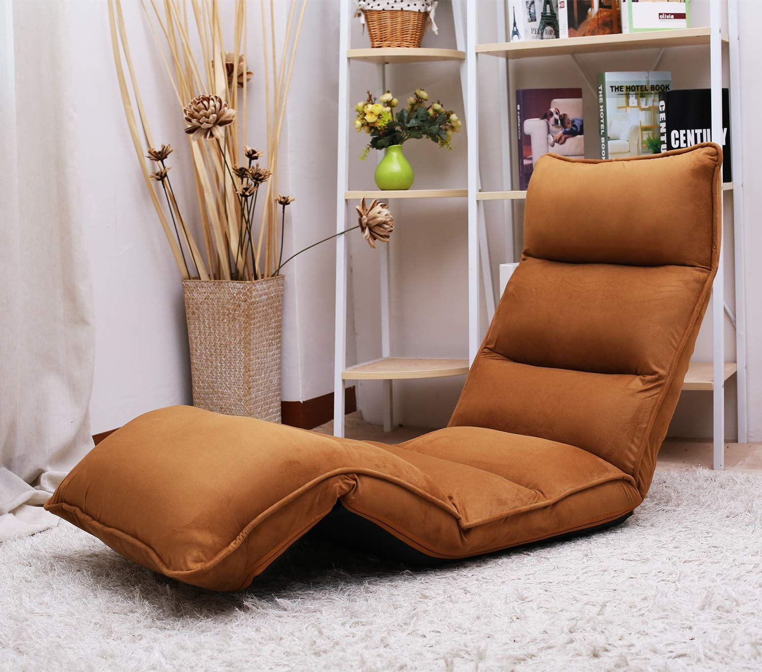 Amazon.com: Upholstered Lazy Sofa Floor Sofa Chair Couch ...