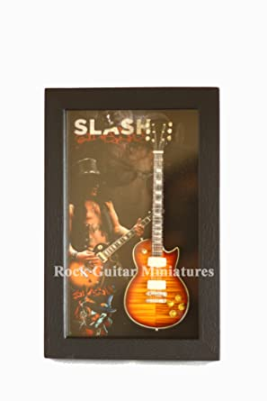 rgm8885 Slash GUNS N ROSES Miniature Guitar Collection (shadowbox Frame