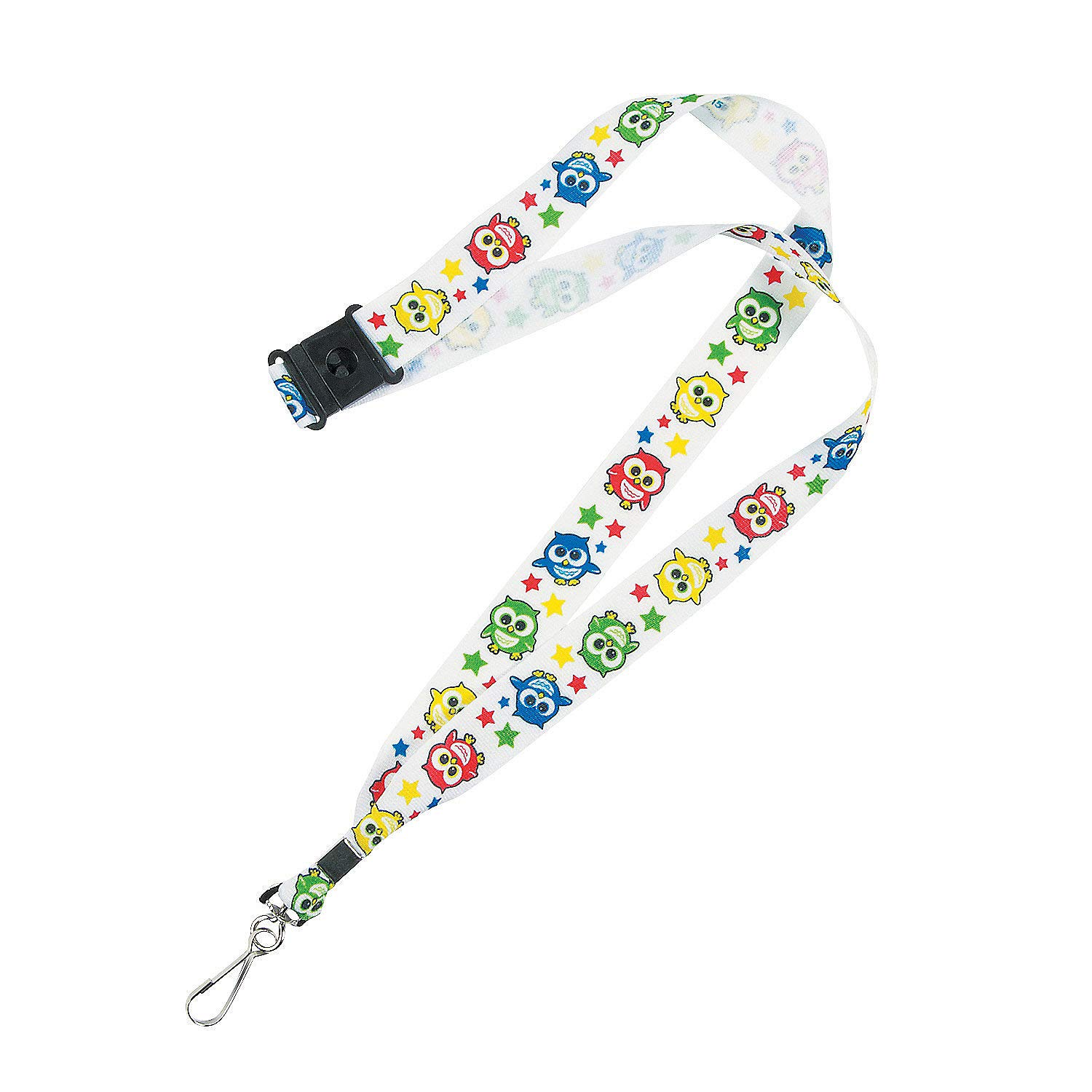 Necklaces Jewelry 12 Pieces Owl Lanyard Fun Express Badge Holders