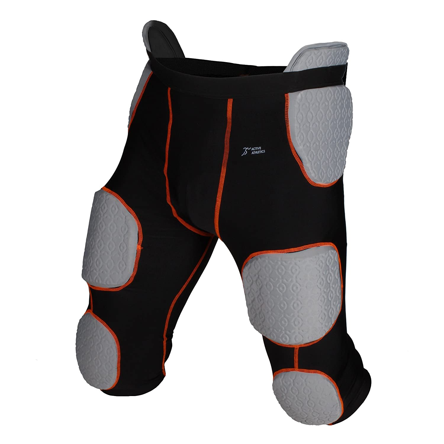 Active Athletics American football briefs with 7integrated pads, black