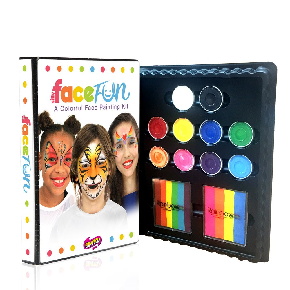 Silly Farm Deluxe Face Painting FACEfun Kit