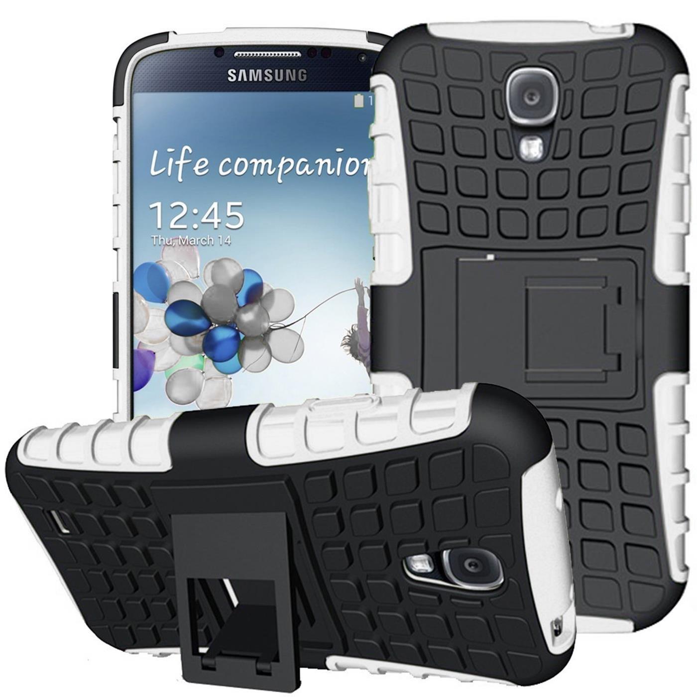 Conie Outdoor Hülle kompatibel mit Samsung Galaxy S4 Mini, verstärkte Schutzhülle Rutschfest wasserabweisend Kantenschutz Rückschale Case in Weiß