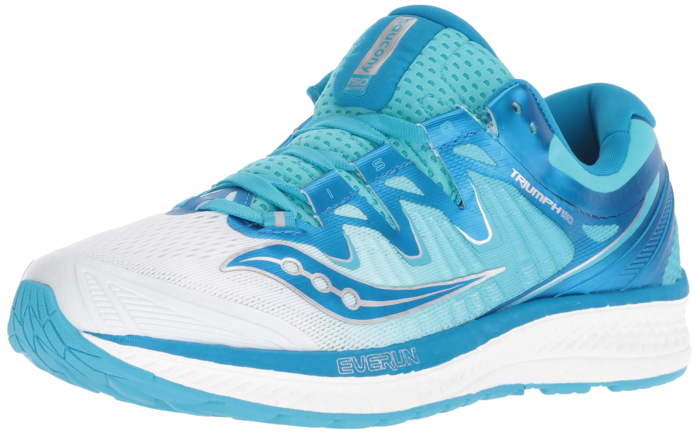 Saucony Women's Triumph ISO 4 Sneaker, White/Blue, 050 M US