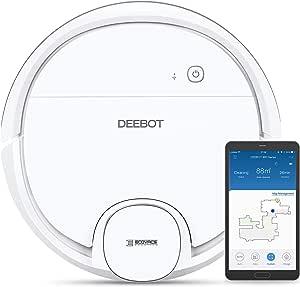 Ecovacs Deebot OZMO 900 - Robot Aspirador 4 en 1: barre, aspira, pasa mopa y friega, mapeo inteligente láser, compatible con Alexa, App, Wifi, reanuda limpieza tras recarga, reporte por voz, blanco