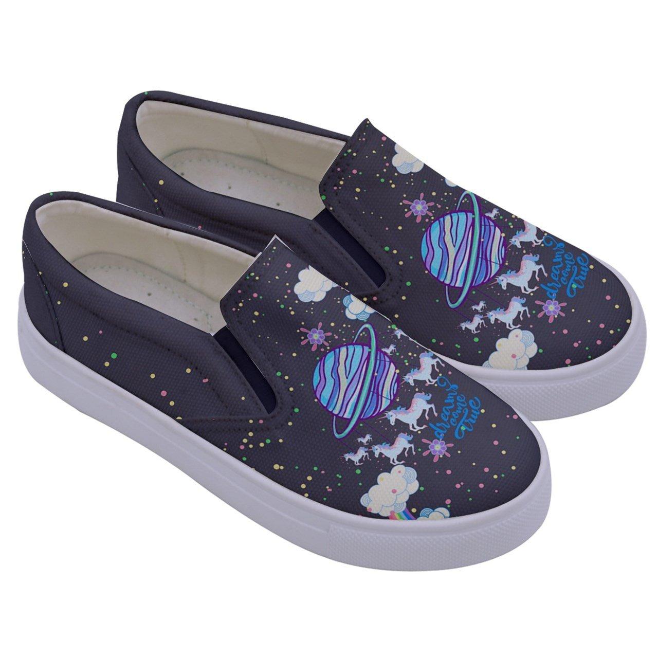 PattyCandy Girls Elegant Unicorn Kids Canvas Slip-On Shoes Size:US 8C-7Y PattyCandy-129839444