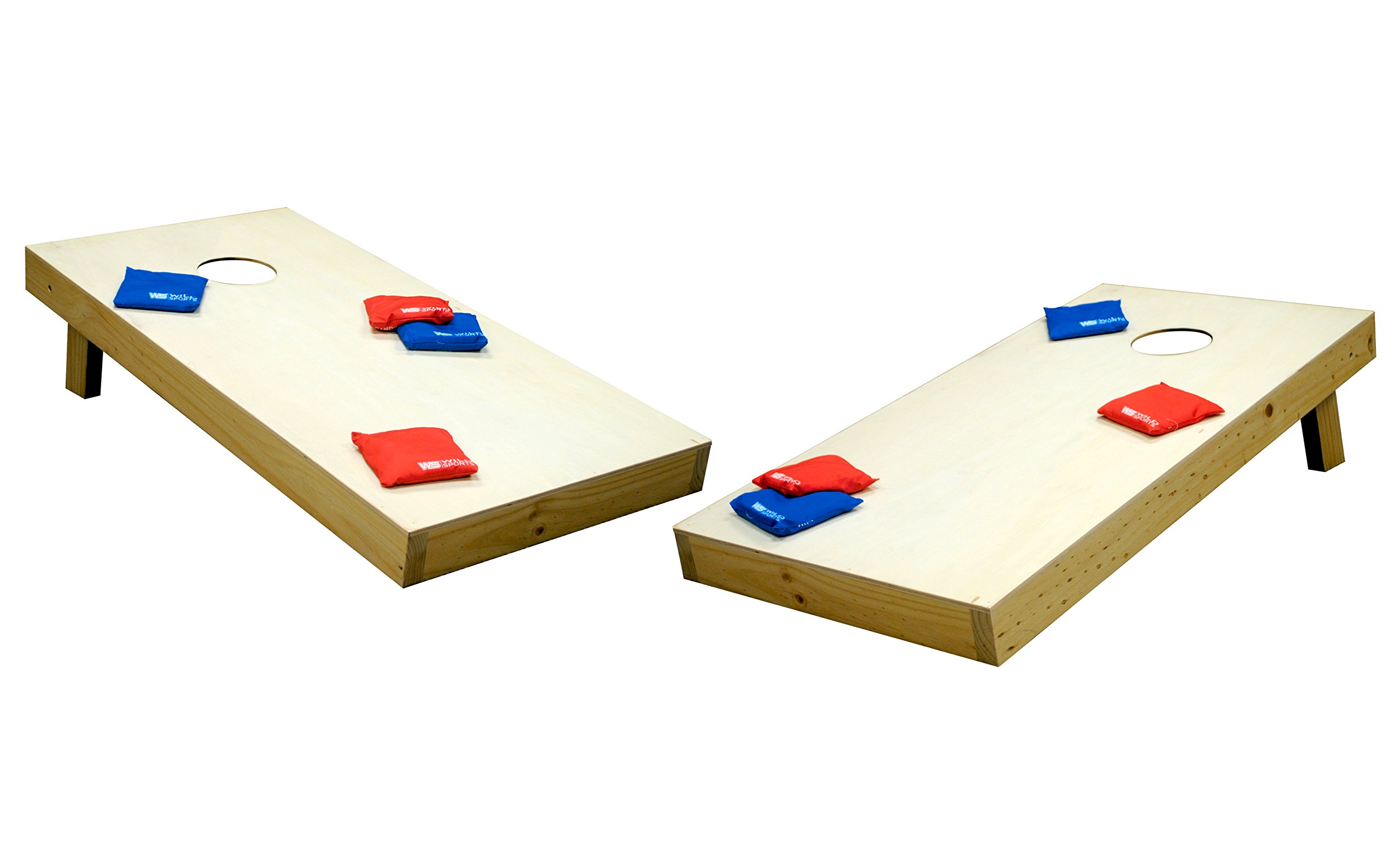 Wild Sports 2'x4'x4'' Solid Wood Tournament Approved Cornhole Set by Wild Sports